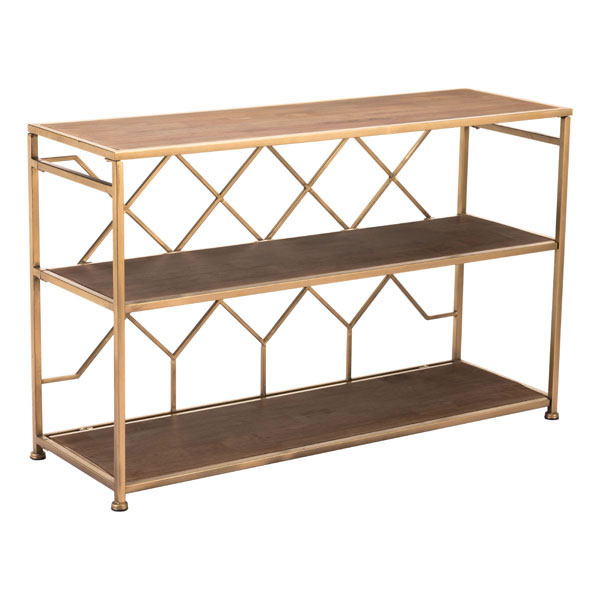 Console Table Brown Steel