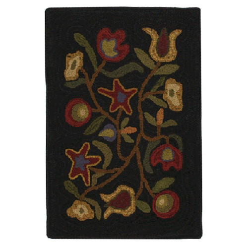 Homespice Decor Hooked Walk In The Flowers Area Rug