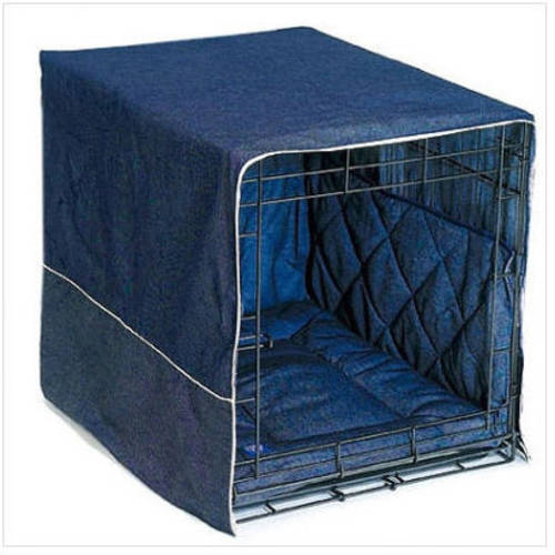 """Pet Dreams Classic Cratewear Dog Crate Cover, Extra Large, Denim, 42"""" x 28"""""""