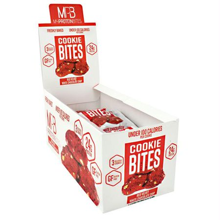 My Protein Bites Cookie Bites Red Velvet White Chocolate Chip - Gluten Free](Toss My Cookies)