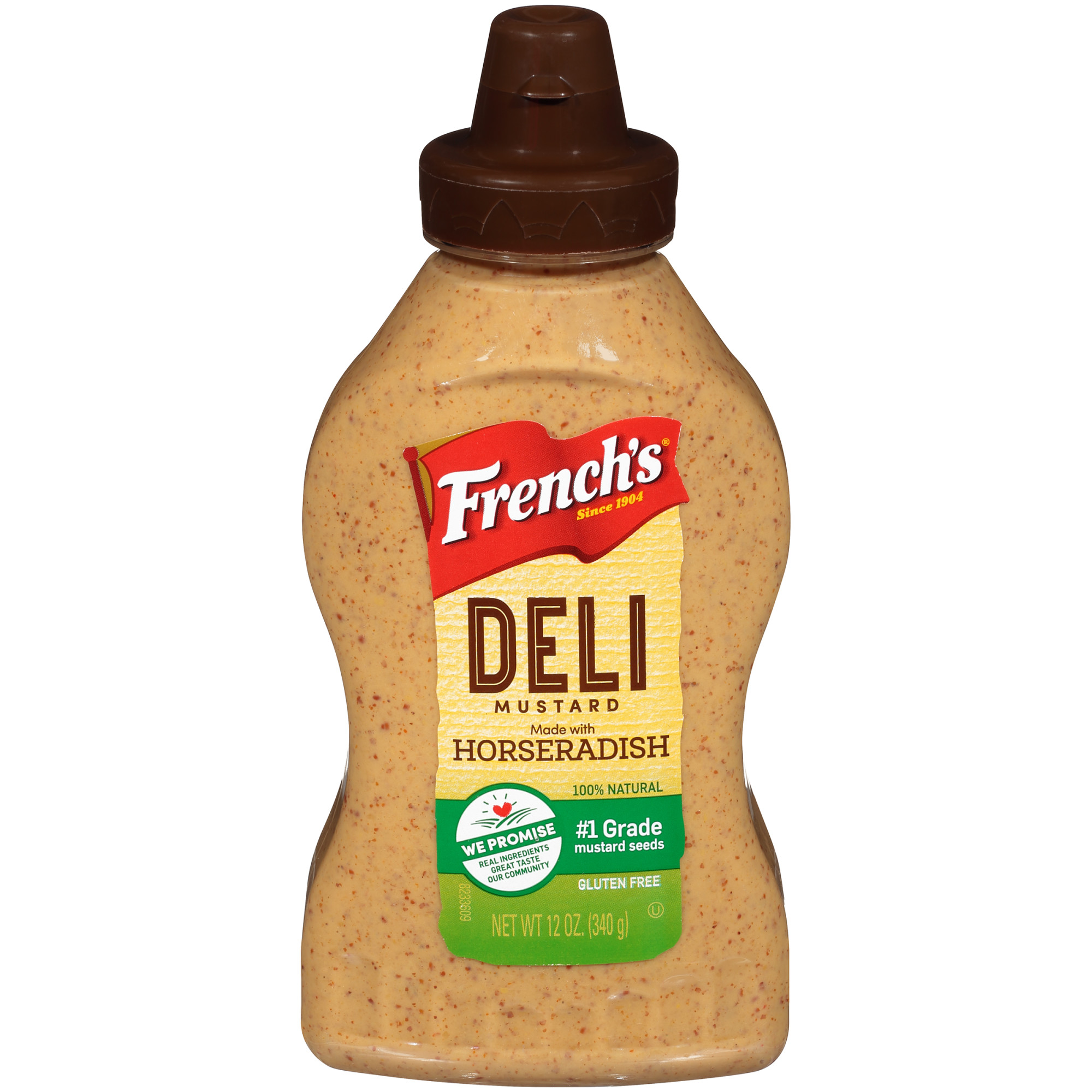 French's Horseradish Deli Mustard Squeeze Bottle, 12 oz