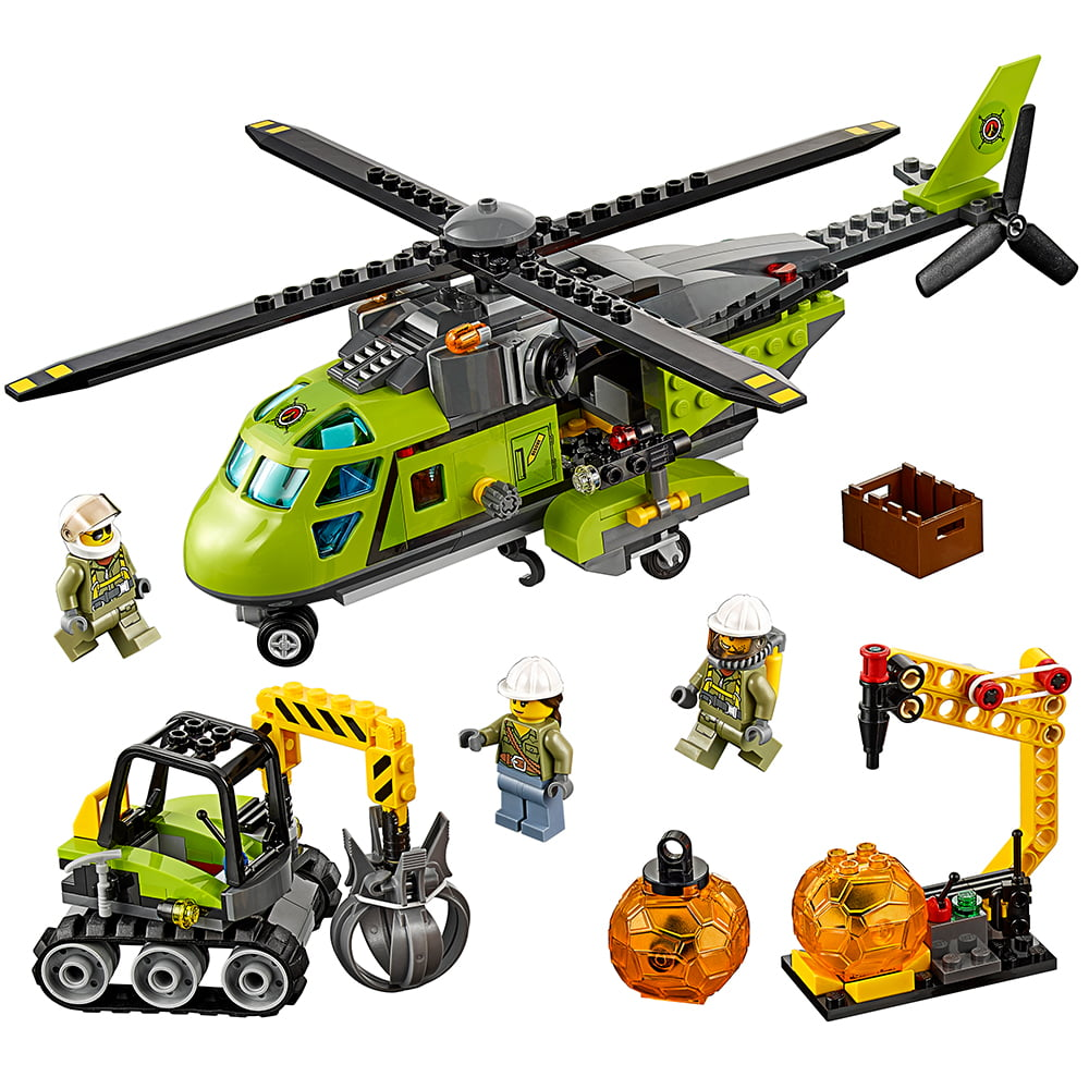 Lego City Volcano Explorers Volcano Supply Helicopter 60123 by LEGO System Inc