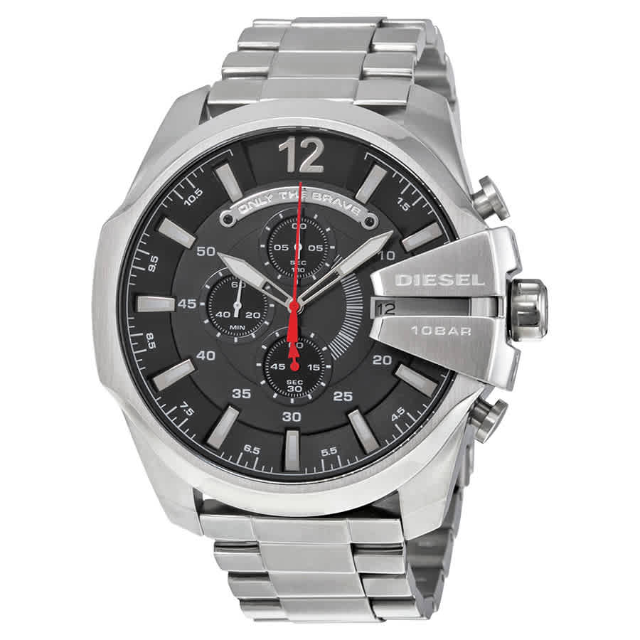 Chief Chronograph Black Dial Stainless Steel Mens Watch DZ4308