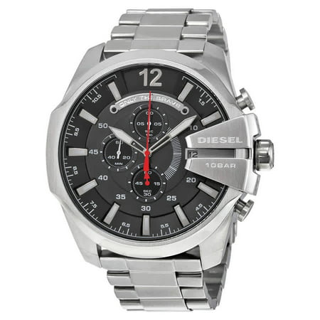 Chief Chronograph Black Dial Stainless Steel Mens Watch DZ4308 Black Dial Steel Chronograph Watch