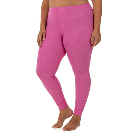 Fit for Me by Fruit of the Loom Women's and Women's Plus Size Waffle Thermal Underwear