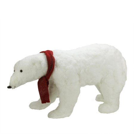 30 commercial walking plush white polar bear christmas decoration - Polar Bear Christmas Decorations