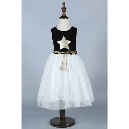 Kids Girls Star Bust Waist Belt Fancy Dress - Star Girl Fancy Dress