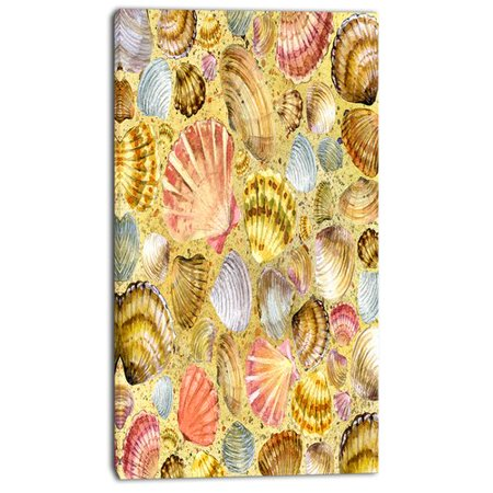 Design Art 'Seashell and Sea Sand' Graphic Art on Wrapped Canvas