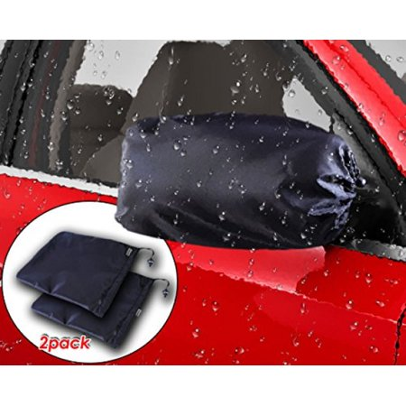 Zento Deals Car Side Mirror Covers with Anti-Theft Design-Pair of Black Auto Side Mirror Protector from Snow, Frost, Bird Poop
