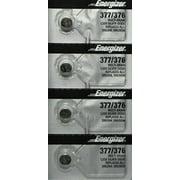 4 Energizer 377 376 Silver Oxide Watch Batteries SR626SW SR626W