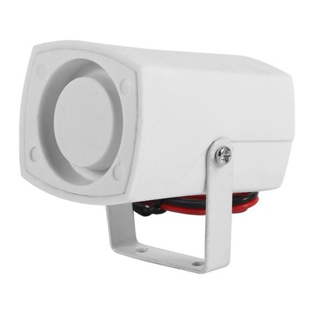 FAGINEY Wired Mini Horn Siren Loud Home Vehicle Security Sound Alarm System With Support 110dB DC 12V , Wired Siren. Wired Sound Alarm - image 1 of 1