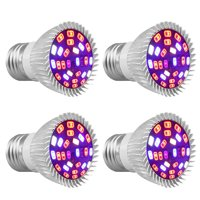 (1/2/4 Pack)LED Grow Light, EEEkit Full Spectrum E26 27 LEDs Grow Light Bulbs for Indoor Plants Greenhouse