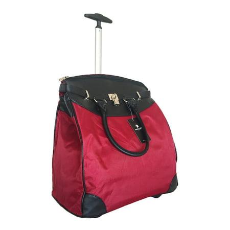 TrendyFlyer Computer Laptop Rolling Bag 2 Wheel Case Plain -