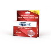 Dentist On Call Repair-It Advanced Denture Repair Kit, 3 Count