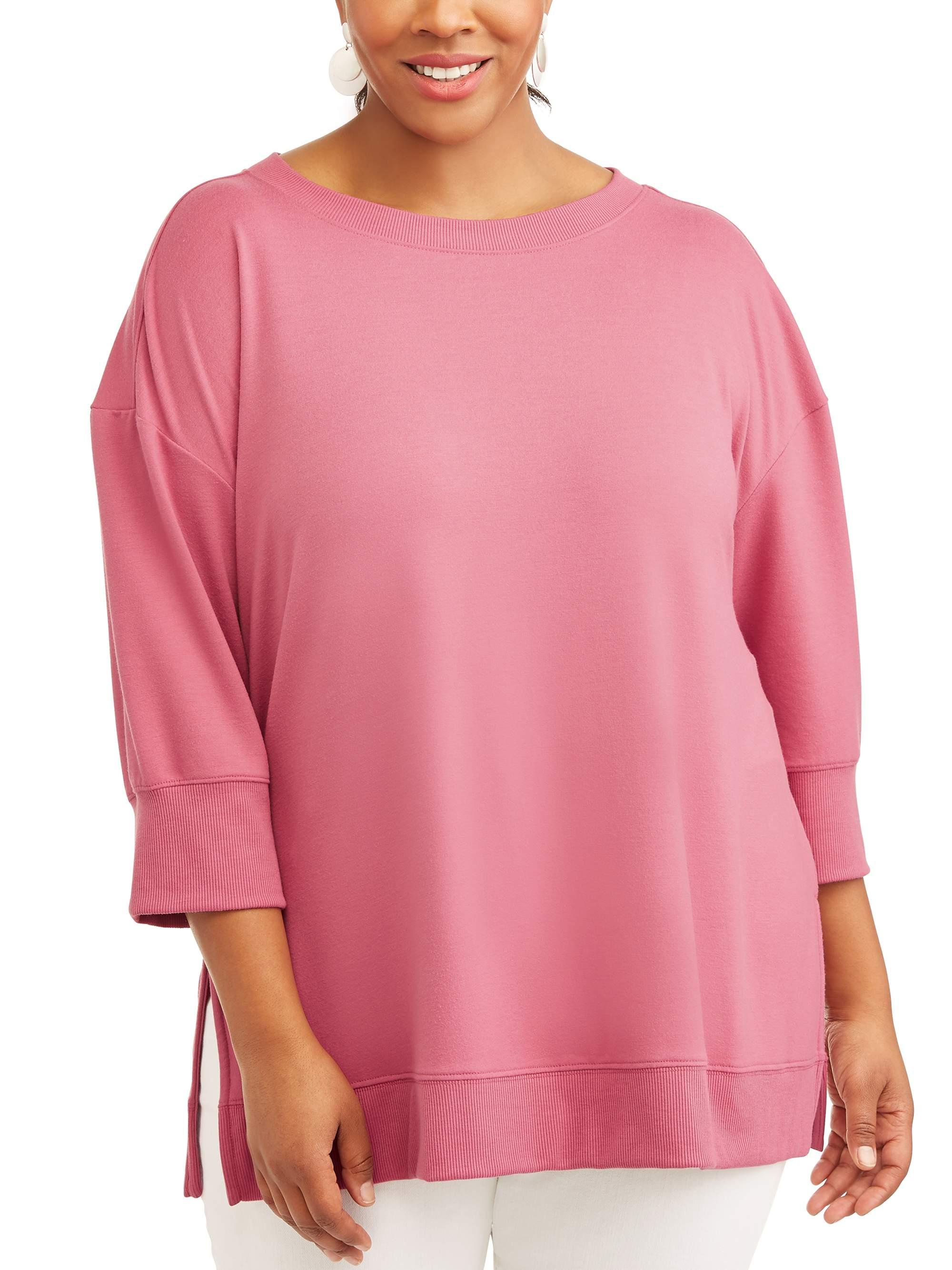 Women's Plus Scoop Neck Sweatshirt