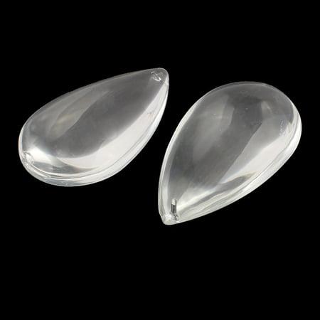73.5mm Longue Cordon Forme Faux Motifs Cristal Clair 10pcs Bricolage Décor Clair - image 1 de 2