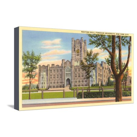 Keating Hall, Fordham University, New York City Stretched Canvas Print Wall Art