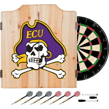 NCAA East Carolina University Dart Cabinet - Includes Darts and Board