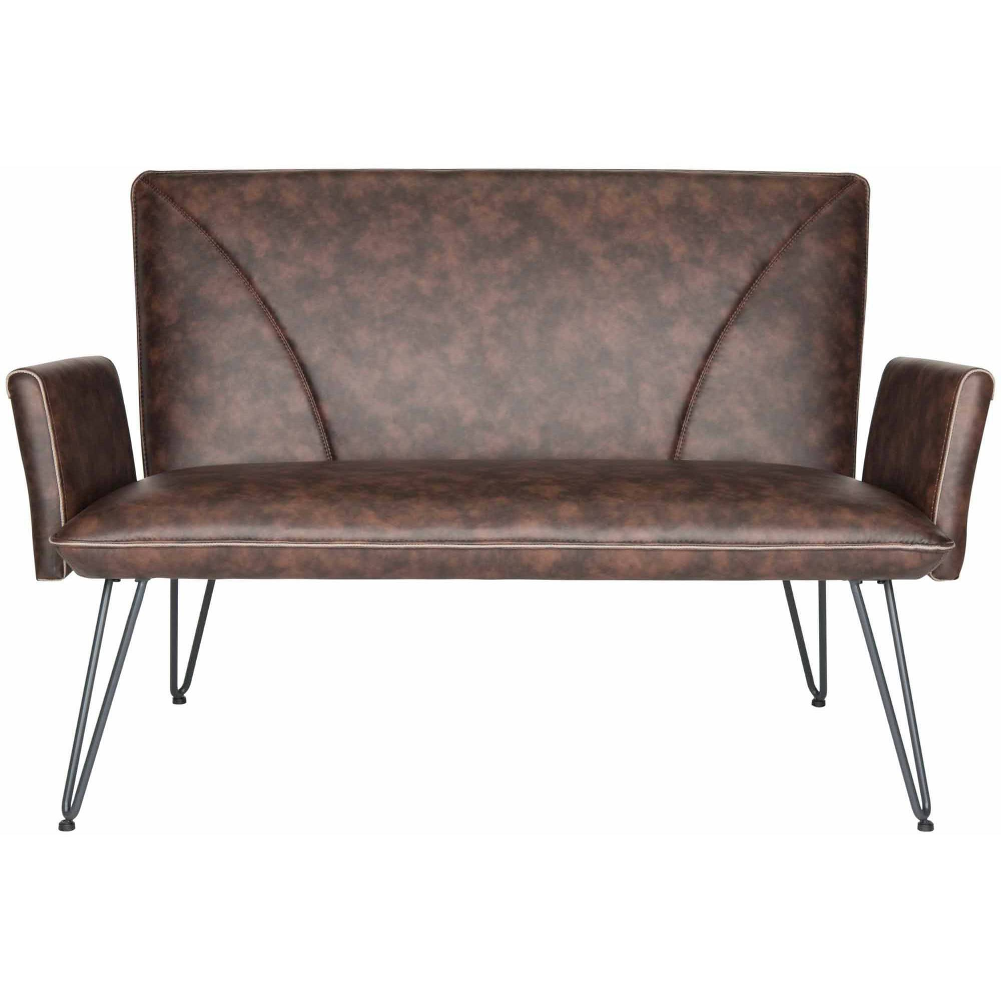 Safavieh Johaness Bicast Leather Settee, Multiple Colors