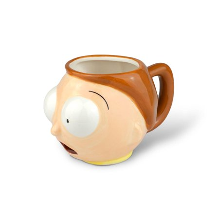 Rick And Morty Merchandise | Ceramic Molded Morty Head Cup | 20 Ounces - image 1 de 1