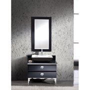Fresca Moselle 36'' Single Modern Glass Bathroom Vanity Set with Mirror