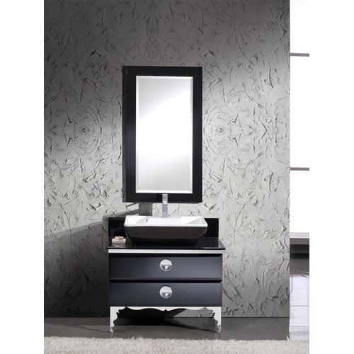 Fresca Moselle 36 Single Modern Glass Bathroom Vanity Set With