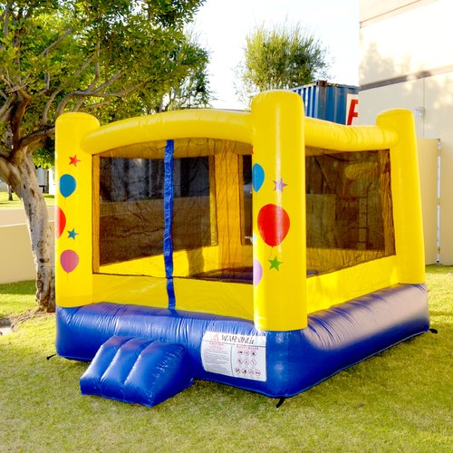 JumpOrange Lil' Kiddo 8' x 8' Balloon Party Bounce House