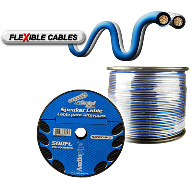 Audiopipe 16 Gauge Flexible Speaker Cable 500Ft