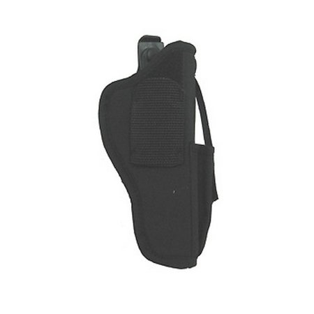 "UNCLE MIKES SIDEKICK HIP HOLSTER WITH MAG POUCH 15 3.75-4.5"" BARREL LARGE AUTO NYLON BLACK"