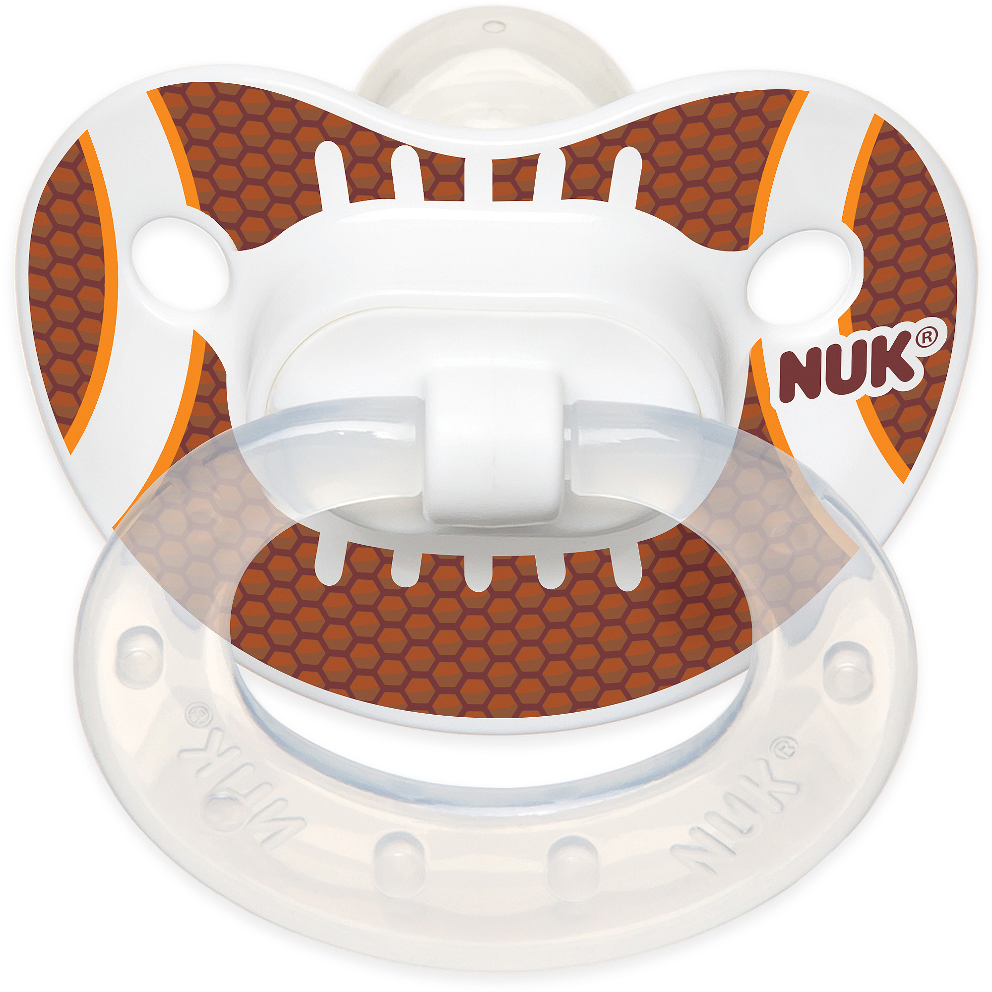 NUK Sports Silicone Orthodontic Pacifiers, 2ct, 0-6 months, BPA-Free (Design May Vary)