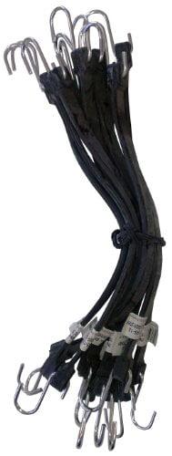 Kotap MBRS-10 EPDM Rubber 10-Inch Tie Down Strap 10-Piece Black