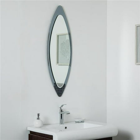 Decor Wonderland Ssm9001 13 75 X 39 5 In Cat Eye Frameless Wall Mirror Walmart Canada
