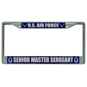 Air Force Senior Master Sergeant License Frame.  Free Screw Caps Included