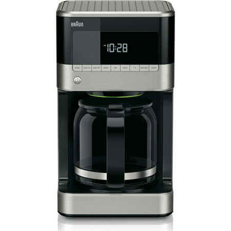 Braun BrewSense 12-Cup Drip Coffee Maker with Brew Strength Selector and Glass FlavorCarafe in Stainless Steel/Black