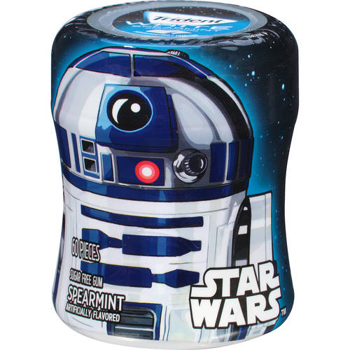 Trident White, Sugar Free Star Wars R2-D2 Spearmint Gum, 60 Pc, 2.94 oz