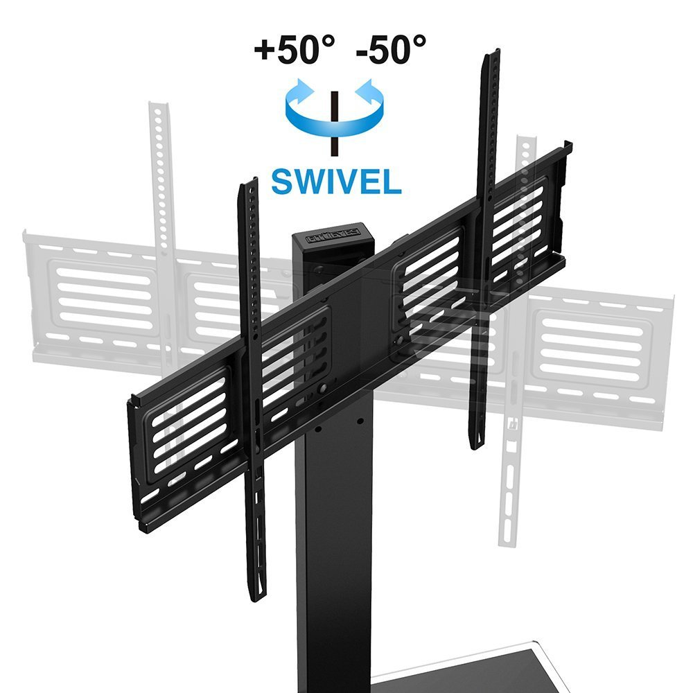 Fitueyes Universal Tv Stand With Swivel Mount For 50 To 80 Inch Tv