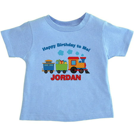 personalized birthday toddler 39 s t shirt train
