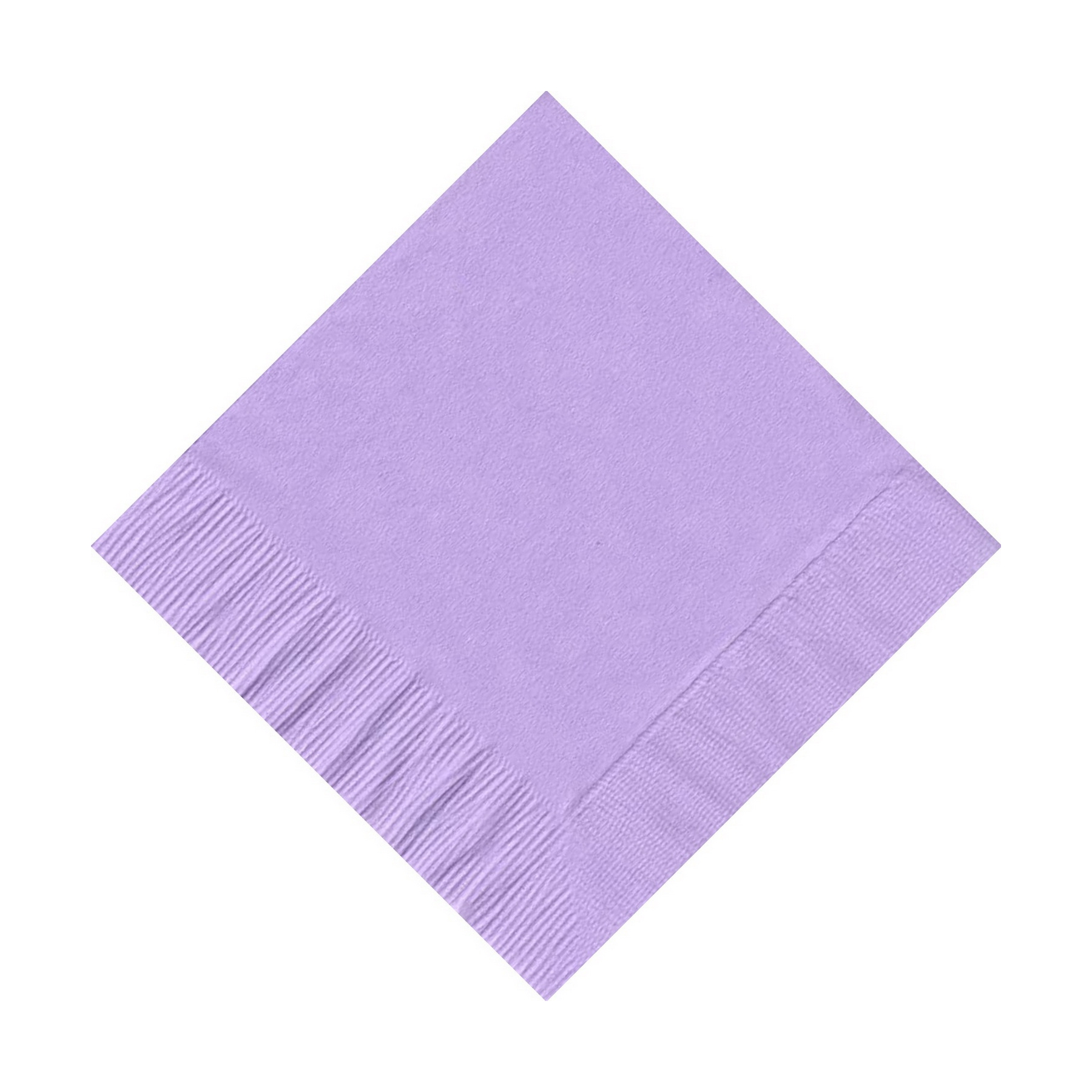 200 (4 Pks of 50) 2 Ply Plain Solid Colors Beverage Cocktail Napkins Paper Lavender by CREATIVE CONVERTING