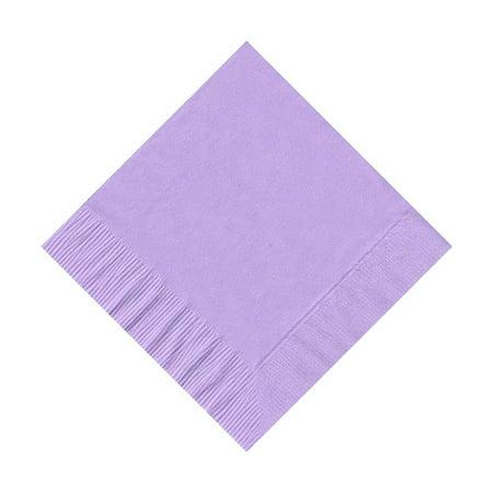 50 Plain Solid Colors Beverage Cocktail Napkins Paper Lavender by