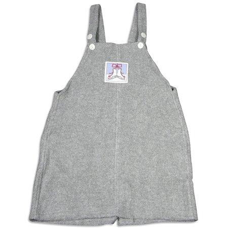 Mulberribush Girls Sizes 7 - 10 Sleeveless Pullover Fleece Jumper Dress, 26287 grey / 10