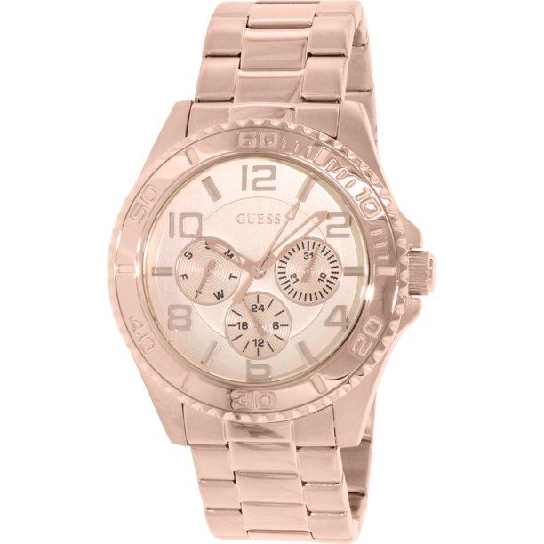 Guess Guess Women S U0231l4 Multi Function Sporty Rose Gold Tone Watch Walmart Com Walmart Com