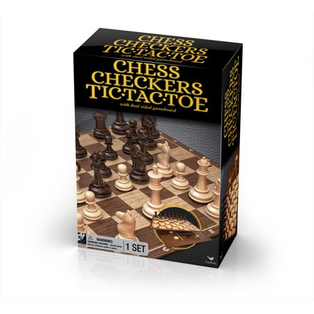 Classic Chess Checkers and Tic-Tac-Toe Set (Best Chess Computer Game)