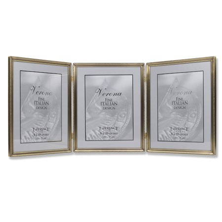 Antique Gold Bead 8x10 Hinged Triple Picture Frame Walmartcom