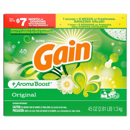 Gain Original, Powder Laundry Detergent, 45 Oz 40 loads