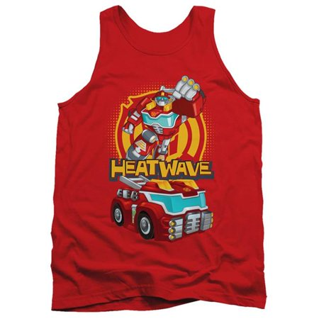 Trevco Sportswear HBRO272-TK-2 Transformers & Heatwave-Adult Tank Top, Red - Medium