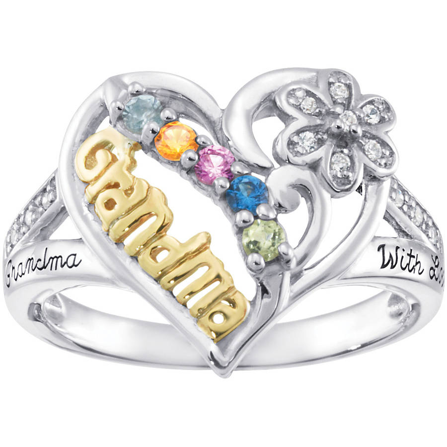 Personalized Keepsake Birthstone Grandma's Pride Ring