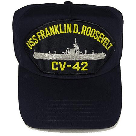 USS FRANKLIN D ROOSEVELT CV-42 HAT MIDWAY CLASS AIRCRAFT CARRIER RUSTY ROSIE USN