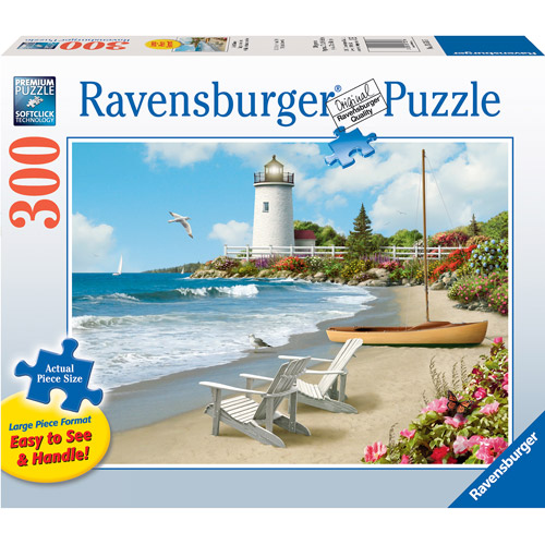 Ravensburger Large Format Sunlit Shores Puzzle, 300 Pieces