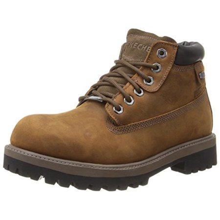 Skechers USA Men's Verdict Men's Boot,Dark Brown,10 EW US