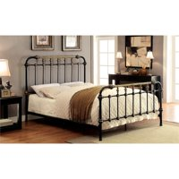 Furniture of America Cecil Twin Metal Spindle Bed in Antique Black
